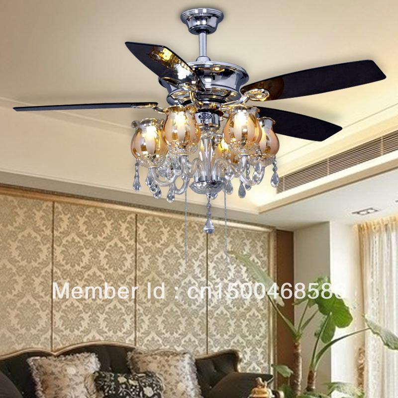 European Chandeliers Fan Ceiling Fan Light Minimalist Modern 52 Inch Living Room Dining Luxury