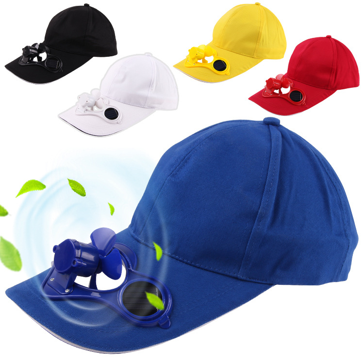 Men Summer Hat with Sun Power Cool Fan For Energy save, no batteries required ,Casual Hats Women Funny Caps Camping Traveling(China (Mainland))