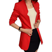 Blazer Feminino Blazer Women Candy Color Solid Women Clothing Tops Slim Style Office Lady Suits Casual Coat 2015 Fashion NZH009