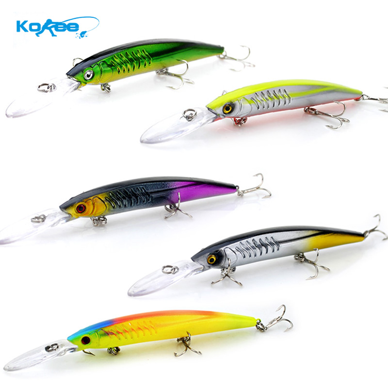 KOBEE Fishing Lure Minnow 2016 14.5CM 12.7G Minnow Lure Bass Fishing Lures Hard Bait Fishing Tackle Pesca Wobbler Accessories(China (Mainland))
