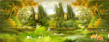 Buy diy 5D diamond painting landscape Home decor Full Diamond mosaic Cross Stitch unfinished Green Woods Swan Lake embroidery Craft for $21.30 in AliExpress store