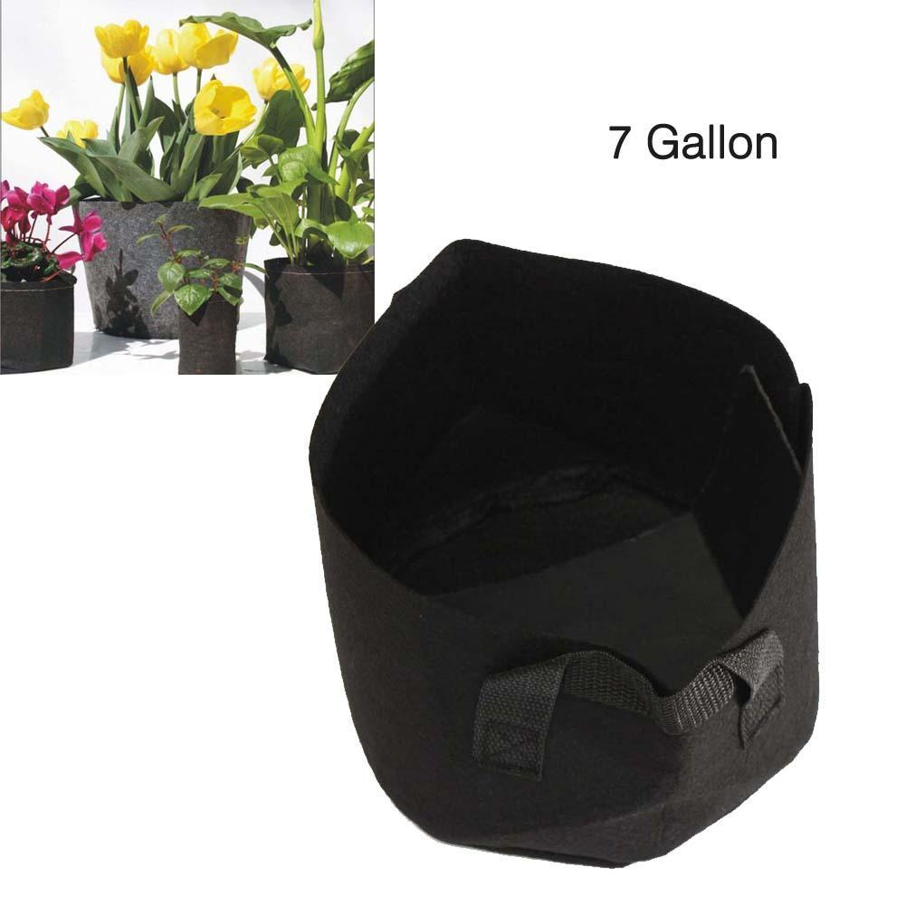 Black Fabric Pots Green Plant Vegetable Pouch Root Containers Round Aeration Pot Container Grow Bag For Plant Tool 7 Gallon A609(China (Mainland))