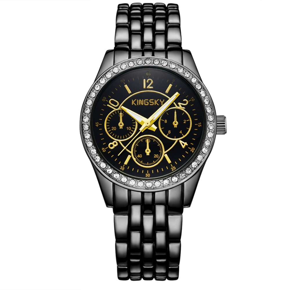 Luxury Women Watches Fashion Rhinestone Watch men Kingsky Watch Female Quartz Wristwatches Lady Dress relogio feminino<br><br>Aliexpress
