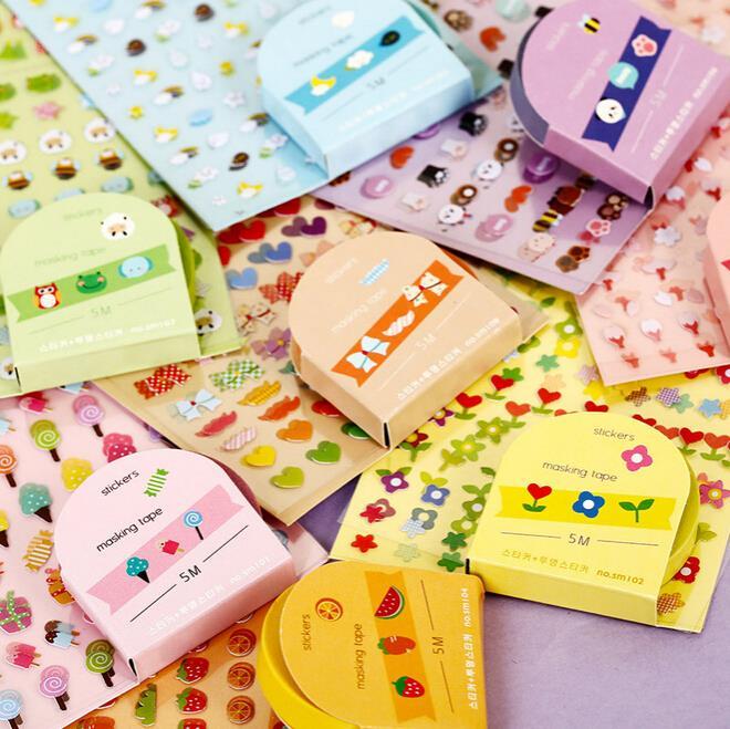 Купить Игрушки и Хобби  DIY New Cute Kawaii Cartoon PVC Stickers with Tape for Home Diary  Decoration Scrapbooking Kids Children Toy Free shipping 939 None