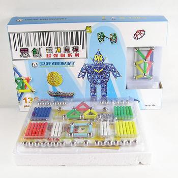 Educational toys child 136 pcs magnetometric magic wand