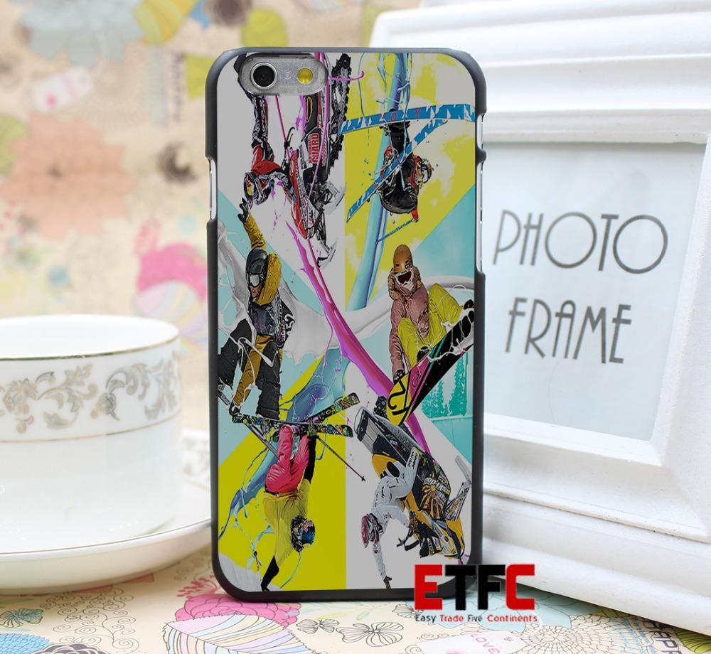 Skiing sledgingespn Design for iPhone 6 6 Plus Hard Black Skin Case Cover(China (Mainland))