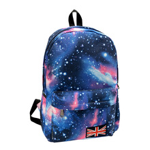2016 Fashion Multicolor Women Canvas Backpack Stylish Star Universe Space Backpack Girls School Backbag Mochila Feminina(China (Mainland))