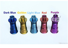 Highly Educated Colored Colorful Titanium Nail With Quartz Bowl Anodized Color 14mm 19mm Female Joint  Nail Drop Ship(China (Mainland))