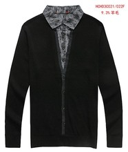 2015 Promotion No Computer Knitted Standard Wool Sweater Men Discount Men's Wool New Type Of Cultivate One's Morality(China (Mainland))