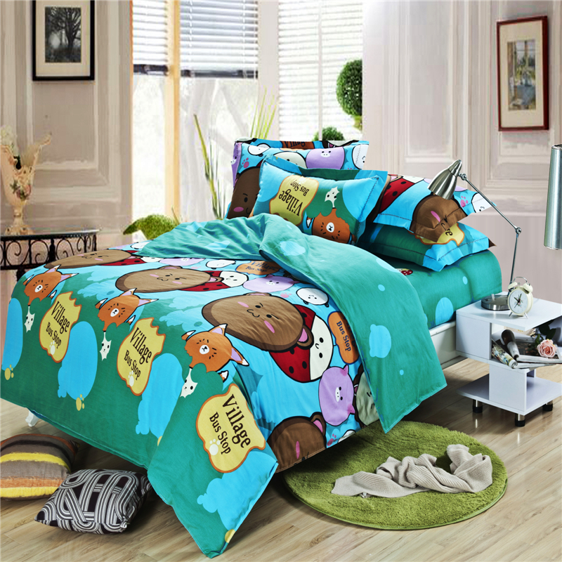 ocean world for children king queen size bedding sets bedclothes duvet covers bed sheet the. Black Bedroom Furniture Sets. Home Design Ideas
