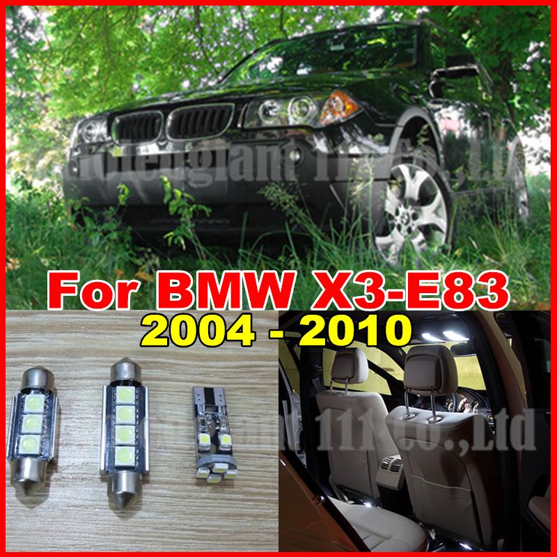 13pieces White Canbus No Error Bulb Car LED for BMW X3 - E83 LED Interior lighting Pack Kit 2004 2005 2006 2007 2008 2009 2010(China (Mainland))