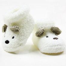 2016NEW Newborn Socks Unisex Baby Boy Girls Infant Cute Bear Crib Warm Shoes(China (Mainland))