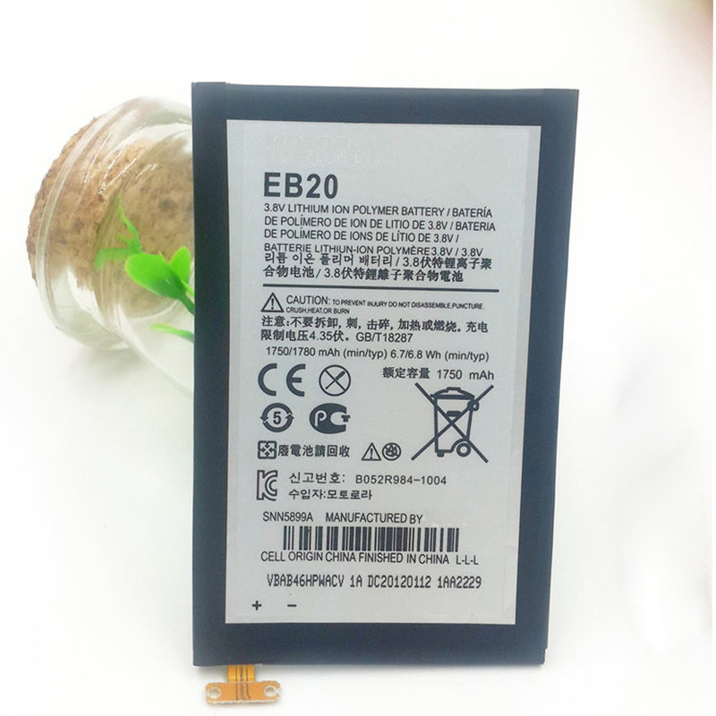2pieces 100% Original Batteries EB20 for Motorola XT910 XT912 MB886 DROID RAZR MT917 MT887 XT885 XT889(China (Mainland))