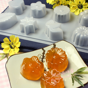 Free shipping Baking mould shape pudding powder cake mould jelly plastic chocolate snowy moon cake mould