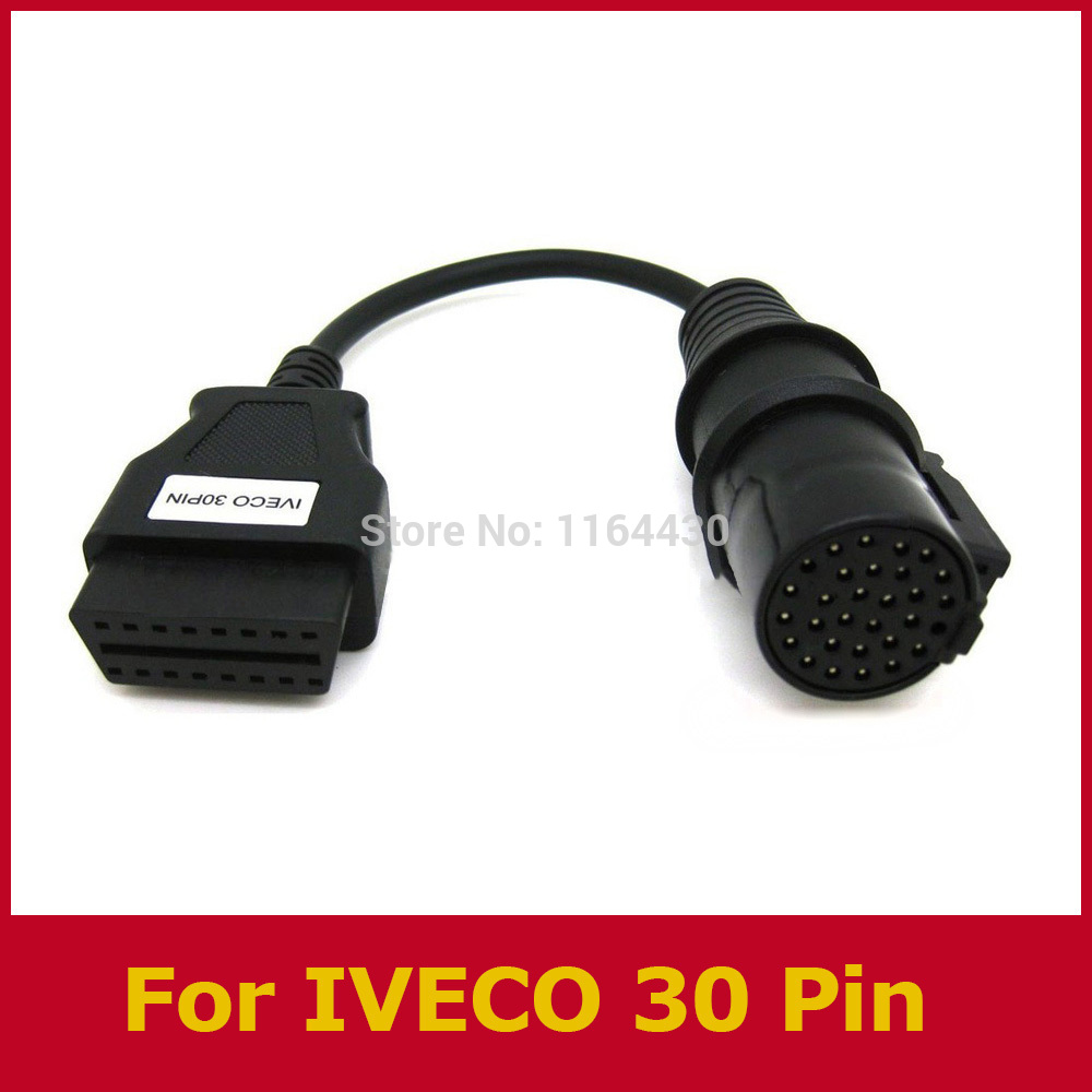 2015 Sale Limited for Iveco 30 Pin Cable for Au/to/com Cdp Trucks Diagnostic Tool Obd 2 Ii Connector free Shipping High Quality(China (Mainland))