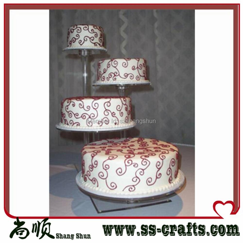 Acrylic Wedding Cake Stand Acrylic Cupcake Stand 4 Tier Cake Display