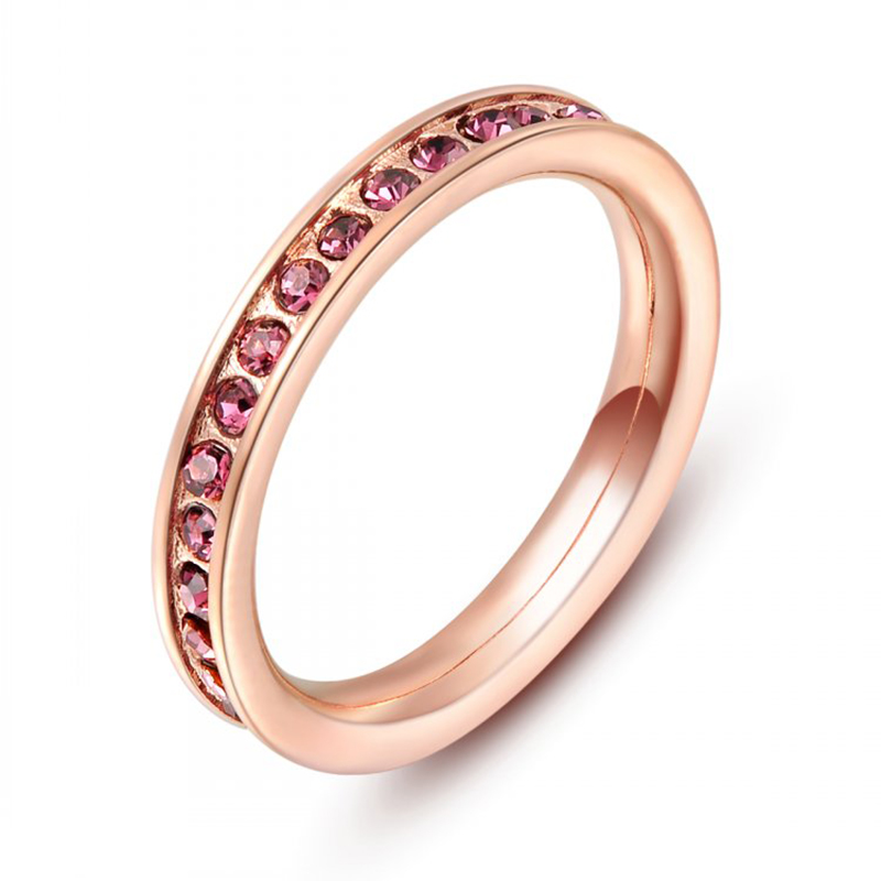 Top Grade Red Genuine Austrian Crystal Ruby-Jewelry Hand Made Pave 18K Rose Gold Plated Copper Wedding Ring for Women Wholesale(China (Mainland))