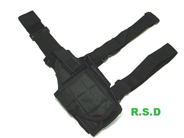 R.S.D   Leg Pistol Gun Holster adjustable quick release plastic tactical puttee thigh leg pistol holster pouch for usp45 black