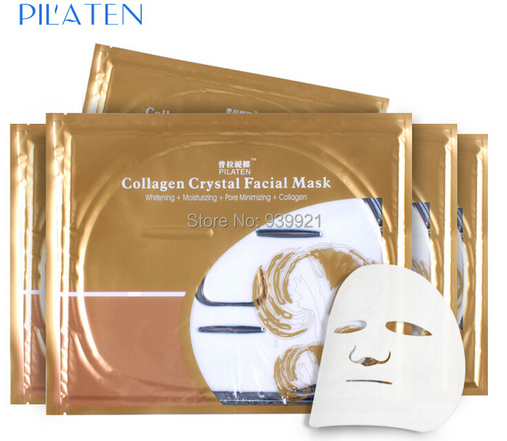 2 pc/lot PILATEN Crystal Collagen Facial Mask Anti wrinkle Whitening Moisturizing Face - Fashion Factory's store