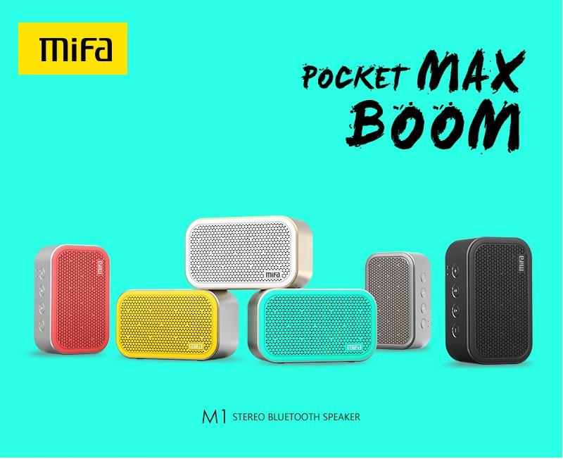 ถูก MIFA M1แบบพกพาบลูทูธลำโพงและไมโครโฟนในตัวสเตอริโอร็อคเสียงกลางแจ้งไร้สายบลูทูธลำโพงสนับสนุนบัตรTF