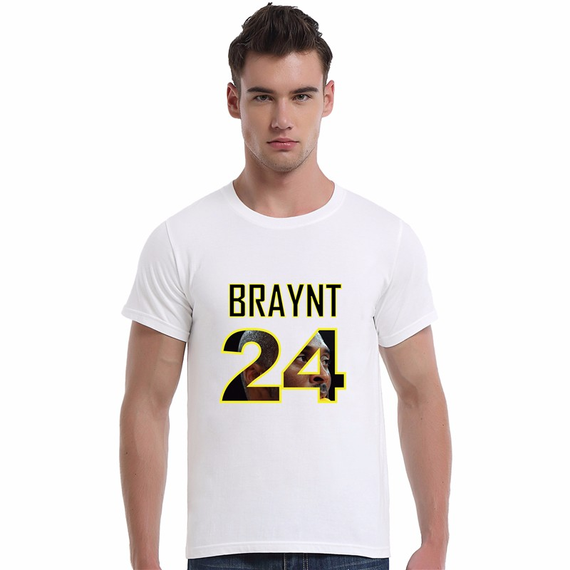 No.24 Kobe Bryant Jersey Tee Shirt Top Quality Summer Men's Cotton Short Sleeve O-neck Casual T-shirt For Men 0295(China (Mainland))