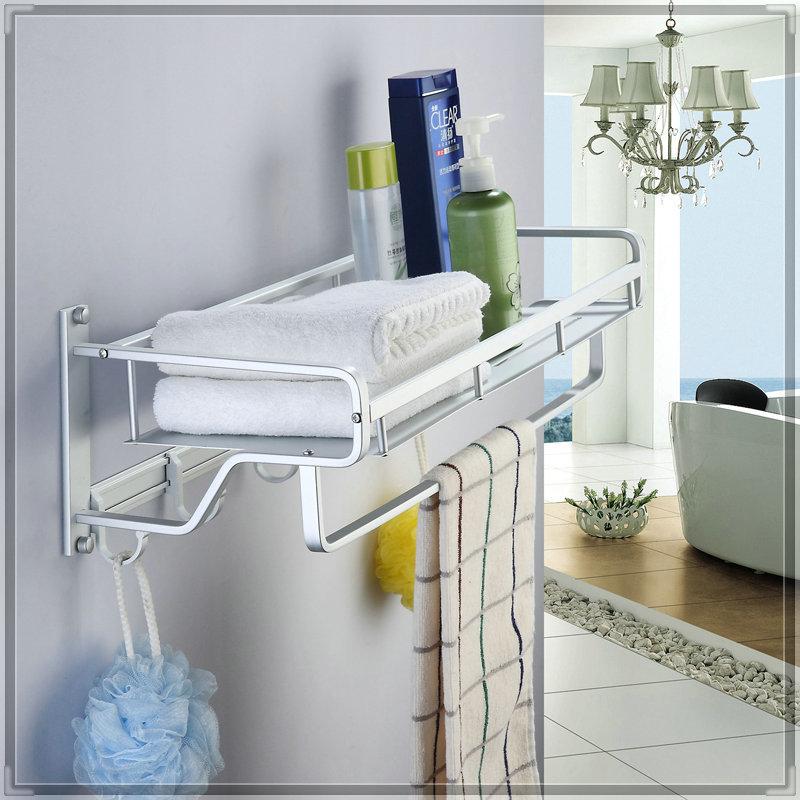 Space aluminum towel rack bathroom hardware towel rack classic towel bar shelf wash tub(China (Mainland))