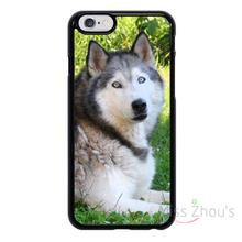 For iphone 4/4s 5/5s 5c SE 6/6s plus ipod touch 4/5/6 back skins cellphone cases cover Siberian Husky Wolf Cute Dog Animal