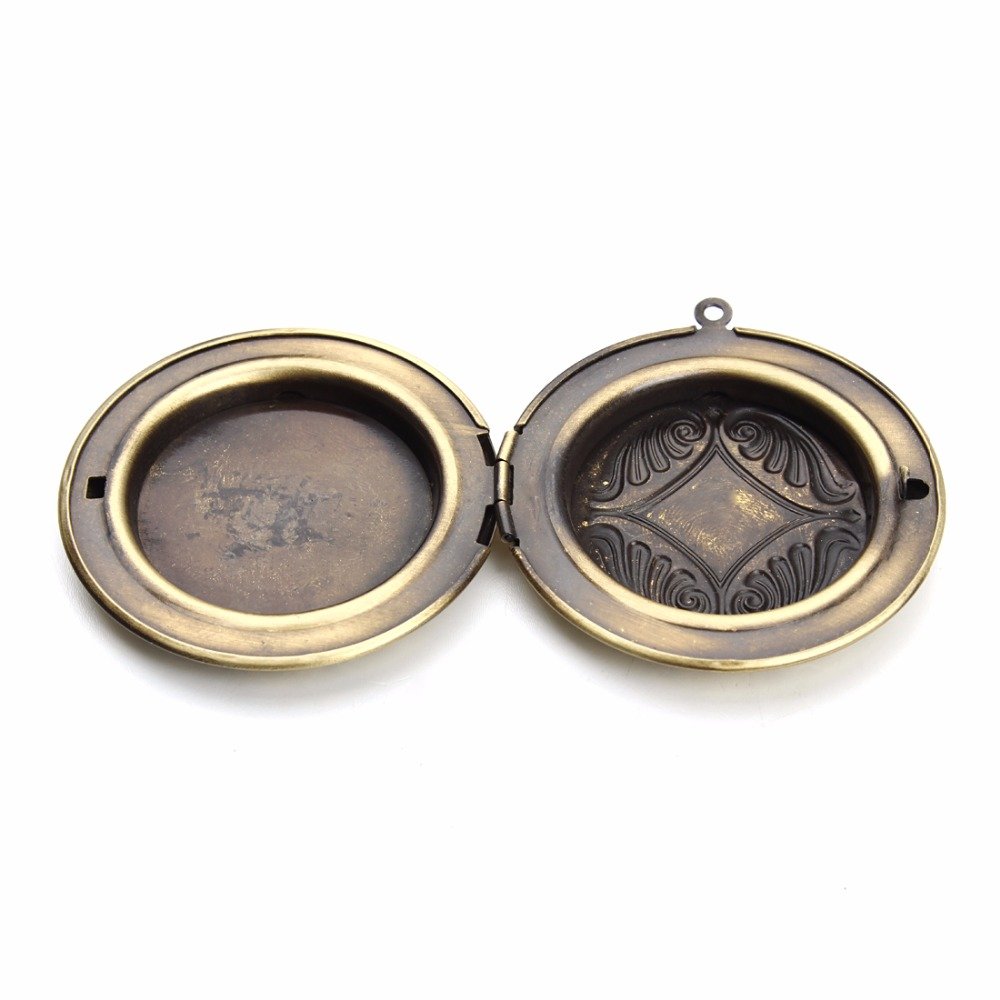 Phase Box Cabochon Base For Photo Blank Frame Base Tray Bezel Necklace Charms For 30mm Cameo Cabochons DIY Necklace(China (Mainland))