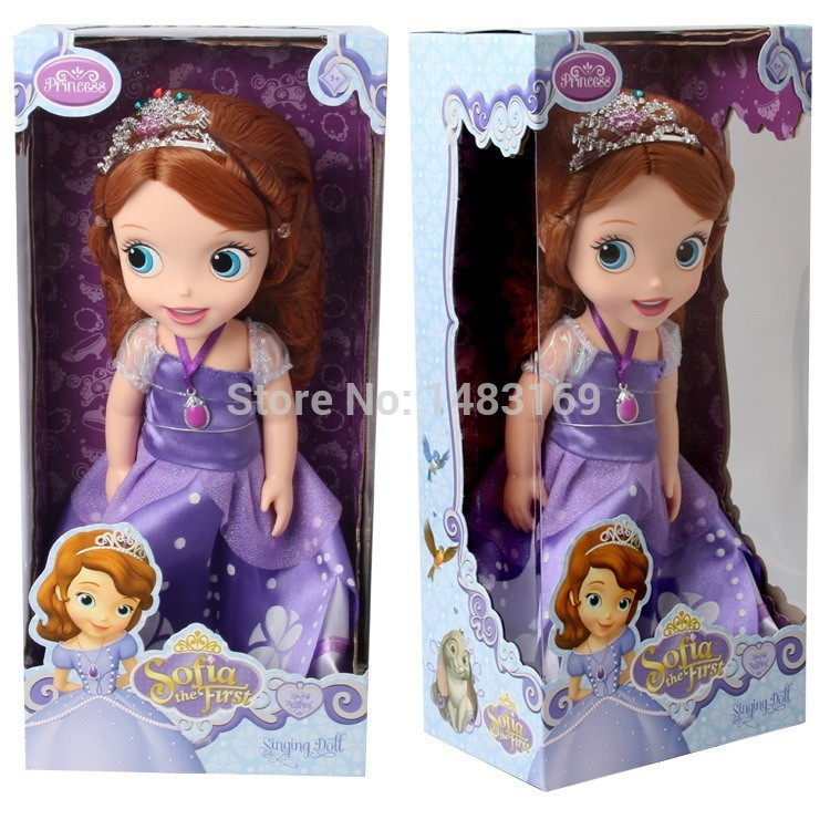2016 Hot Now fashion Original edition Sofia the First princess Bobbi doll VINYL toy boneca accessories Doll For Kids Best Gift(China (Mainland))