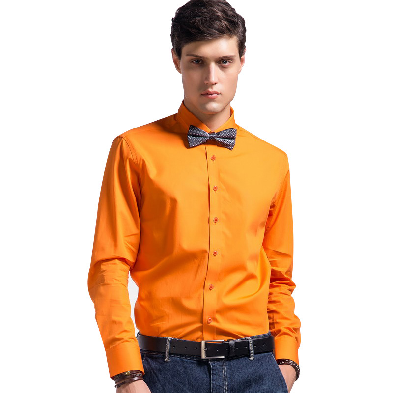 Lesmart Mens Shirt Business Casual Fashion Long Sleeve Square Collar Solid Color Cotton Dress Quality Camisa Masculina - Qingdao Textile Co., ltd store
