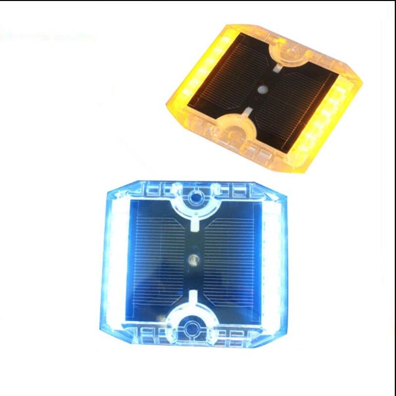 Super Bright IP68 Permanent Solar Pavement Marker Solar Ground Light Outliner Cat Eyes Solar Guardrail Light 2pcs/LOT(China (Mainland))