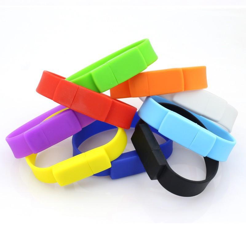 free shipping Pen Drive 16Gb Memory Usb Wristband Bracelet 2.0 Flash gift many colors(China (Mainland))
