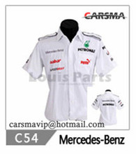 2016 Embroidery 90 Style MOTO GP Cotton Men's F1 Motorcycle Short Sleeve Shirts for PETRONAS Team(China (Mainland))