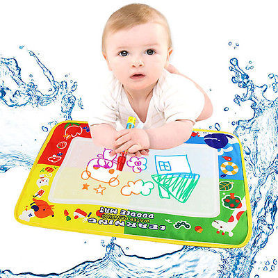 Free Shipping Baby Water Drawing Toys Aqua doodle Mat&1 Magic Pen Water Drawing board 4 color(China (Mainland))
