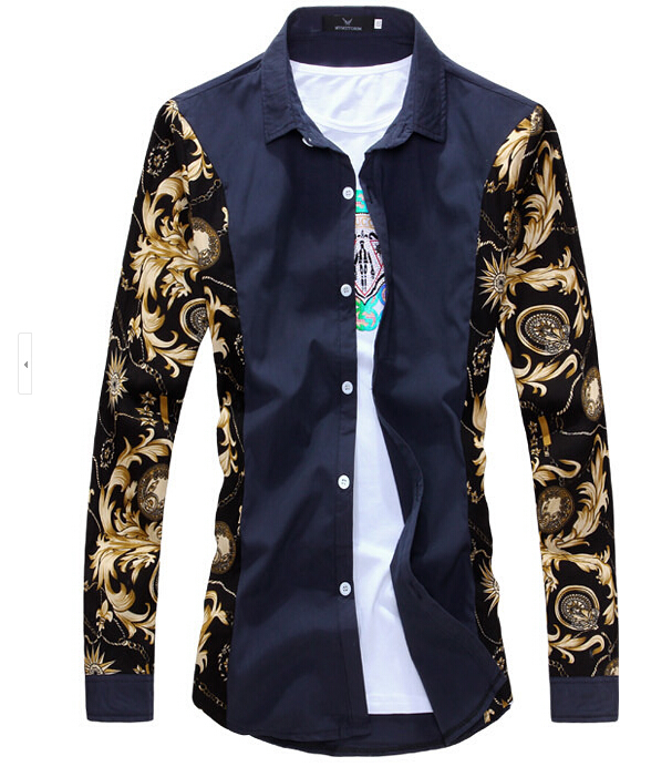 Cheap Designer Men's Clothing From China New Printed Men Fashion
