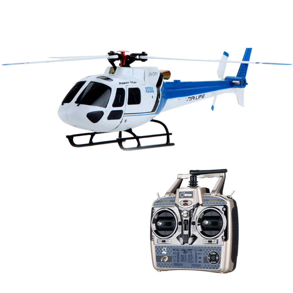 Original Wltoys V931 RTF 6CH Brushless Motor Flybarless 3 Blade AS350 Scale RC Helicopter Blue(China (Mainland))