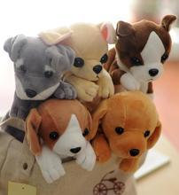 2016 New Kawaii Cartoon Plush Dog Pencil Case Cute Animal Pen bag Box For Kids School Supplies Material Korean Stationery(China (Mainland))
