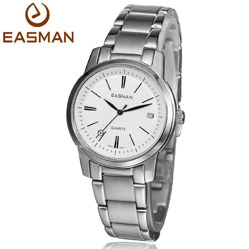 EASMAN Марка Наручные Часы Женщины Часы Дата Календарь Женские Часы Новый Нержавеющей Черная Женщина Кварцевые Часы Для Женщин
