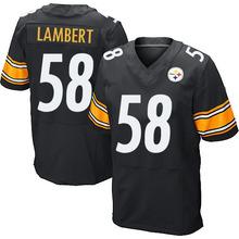 Men's #58 Jack Lambert Elite Black Team Color Football Jersey 100% Stitched(China (Mainland))