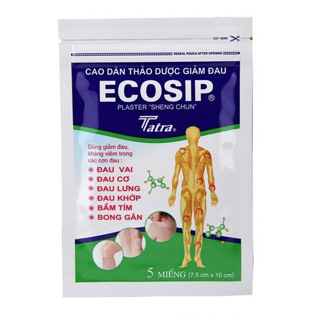 25 Pcs Vietnam Ecosip Plaster Medical Plaster Pain Health Care Plaster Of Pain Cervical Disease Rheumatoid Arthritis(China (Mainland))
