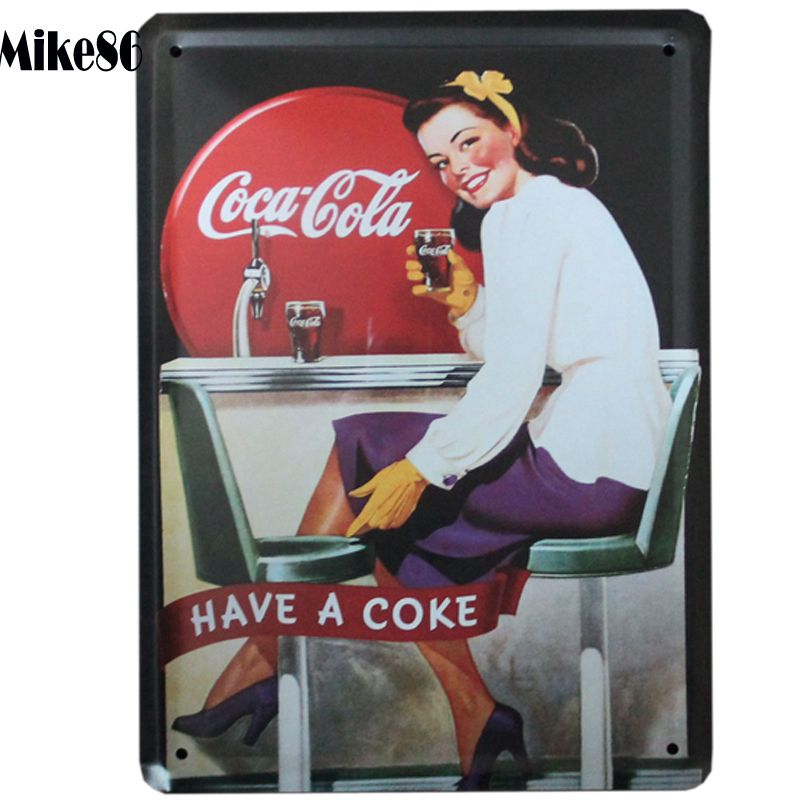 [ Mike86 ] Have A Drink AD Vintage METAL SIGNS Wall BAR Store house decor Antique iron art Painting K-56 Mix Items15*21 CM(China (Mainland))
