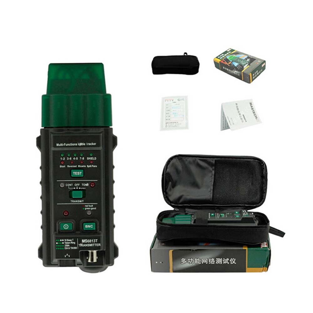 MS6813 Network Cable & Telephone Line Tester Detector Tracker MS6813 Transmitter Handheld Network Cable Testing Tool