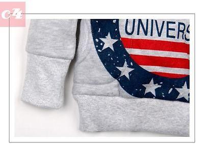 Stars Printed Baby Boys Kids Coat Hoodie Jacket Sweater Pullover Outwear 2-7Y