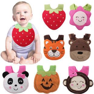 Design Infant Bibs Newborn Pure Cotton Baby Burp Cloths Lunch Animals waterproof Baberos #N006 - C&M Supermarket store