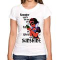2016 Fashion Deadpool Snow White Princess women print t shirt funny Deadpool Harley Quinn t shirts