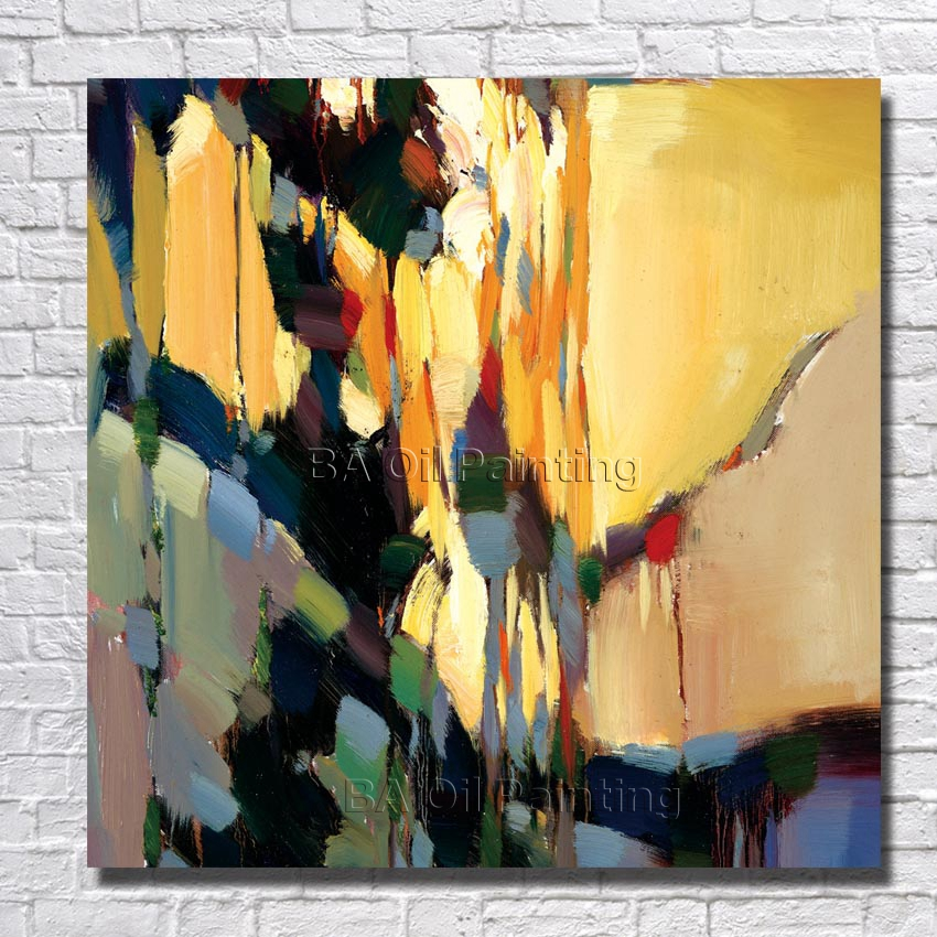 Big Size Hand-painted Beautiful Oil Painting Canvas Abstract Painting Modern Home Decoration Wall Pictures Framed Art