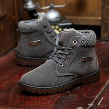 Super caliente hombres de cuero de invierno Boot hombres exterior nieve de goma impermeable ocio Martin botas inglaterra zapatos Retro B01(China (Mainland))