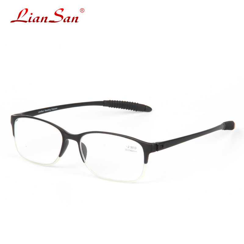 2016 brand liansan tr90 lightweight reading glasses mens