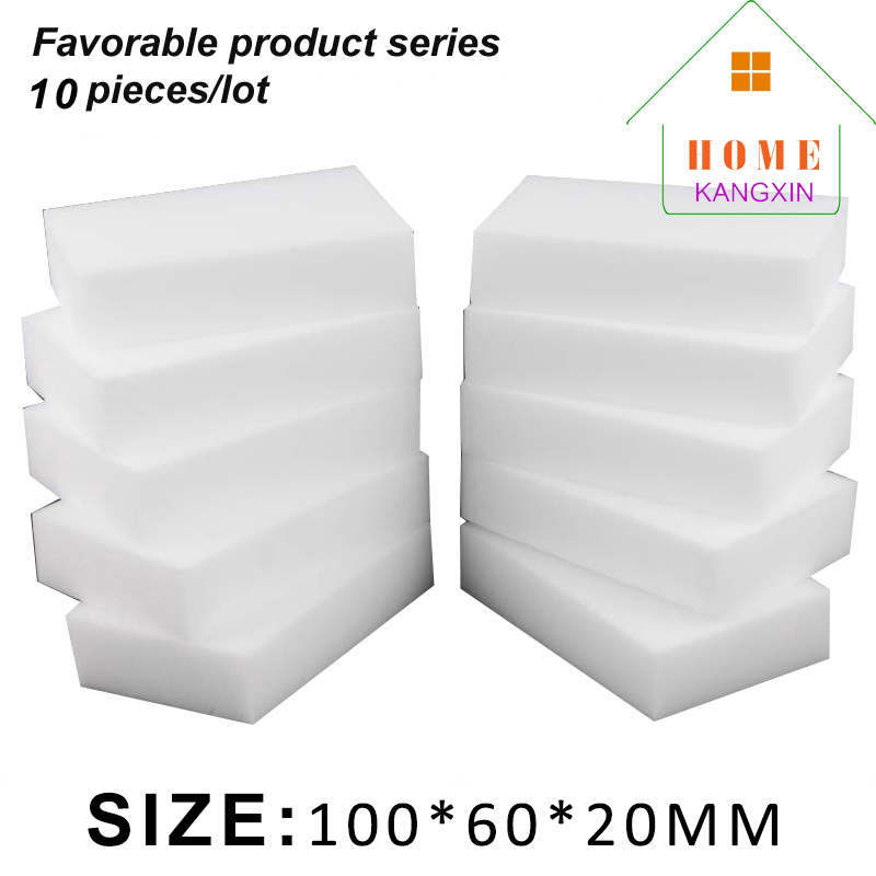 10pcs/lot Kitchen Dish Washing Sponge 100*60*20mm Magic Melamine Cleaning Sponge Eraser Super Keyboard Cleaner Scouring Pad(China (Mainland))