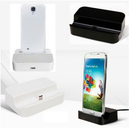 High Quality Desktop Phone Charger Dock Cradle Docking Station for Samsung Galaxy i9500 S2 S3 S4 S5 i9100/i9300/i9600 P34-1(China (Mainland))